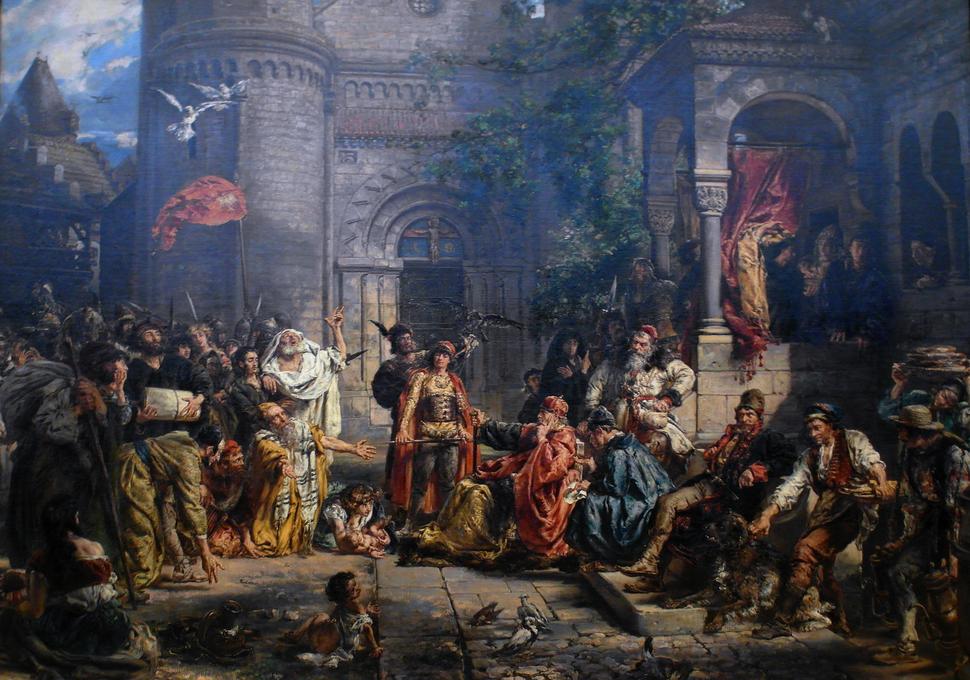 Reception of Jews in Poland by Jan Matejko 1889