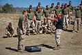 Red in the face, Marines endure pepper spray training 131001-M-XZ164-344.jpg