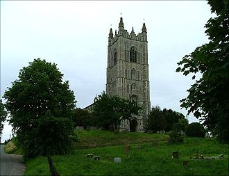 Church of the Assumption of the Blessed Virgin Mary, Redenhall - Image: Redenhall Front Tower