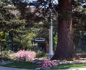 Redwood City, California - City Hall (surrounded by Redwood trees)