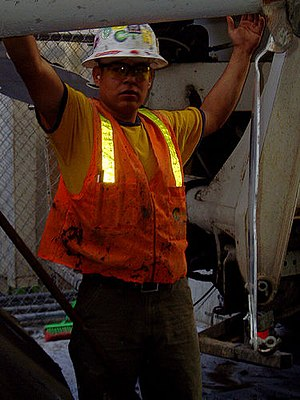 Construction worker in San Francisco.