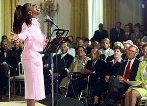 Regina Belle - Image: Regina Belle performs at the White House