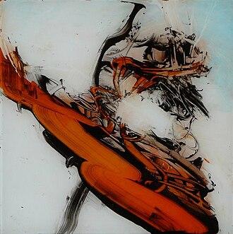 Reverse glass painting - Untitled, Regina Reim, reverse glass painting, 21st century
