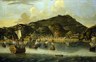 Tripoli - Dutch ships off Tripoli by Reinier Nooms, ±1650