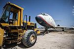 Relocation of Kish Air Tupolev Tu-154 (EP-LBR) to the Kish Island coast (16).jpg
