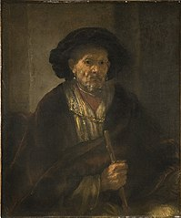 Portrait of a man with cane