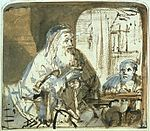 Rembrandt Homer Dictating to a Scribe.jpg