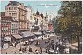 Rembrandtplein met reklame Van Houtens Cacao, Amsterdam (ansichtkaart, kleur).jpg