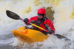 Kayaking - Kayaking in whitewater rapids
