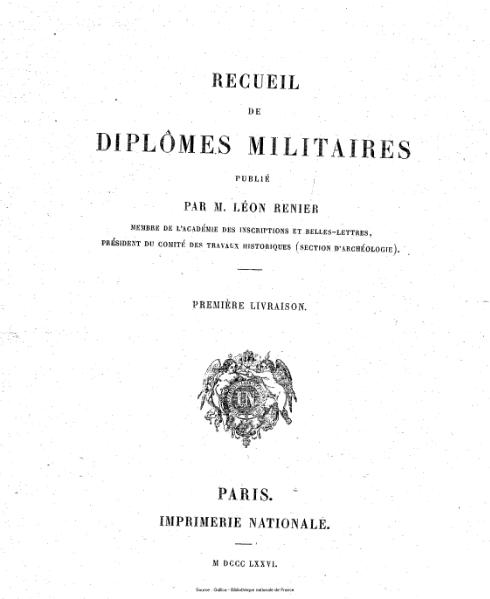 File:Renier - Recueil de diplômes militaires.djvu