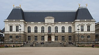 Parlement - Façade of the palace of Parlement of Brittany