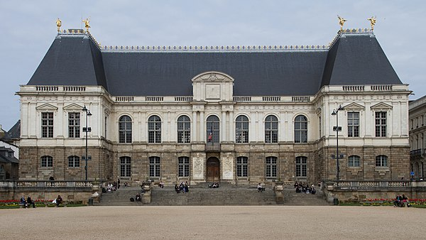 Facade of the palace of Parliament of Brittany Rennes - Parlement de Bretagne.jpg