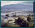 Repair of Tasman Bridge in colour looking from East to West (1976) (16201248152).jpg