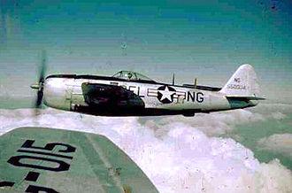 142d Airlift Squadron - 142d Fighter Squadron P-47N, 1947