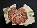 Restes de pintura mural del sostre de la Domus de la Porta Oriental de Lucentum, flor (MARQ).JPG