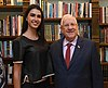 Reuven Rivlin met with Miss Israel of 2017, Rotem Rabi, October 2017 (2803).jpg