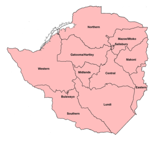 Zimbabwe Rhodesia general election, 1979 - Rural constituencies used at this election.