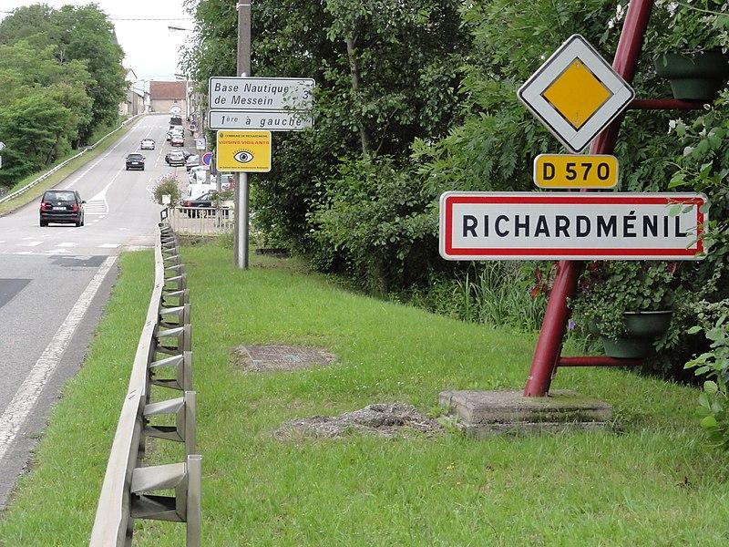 Richardménil (M-et-M) city limit sign