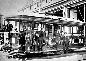 Ridge Street Tram Depot - Image: Ridge Street Tram Depot c.1900