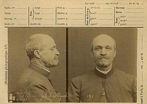 Jean-Désiré Ringel d'Illzach - Ringel d'Illzach (1903). Anthropometric photograph by Alphonse Bertillon