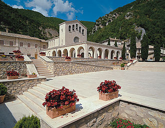 Rita of Cascia - Sanctuary of Saint Rita at Roccaporena, Italy.