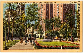Rittenhouse Square - Image: Rittenhouse Square, towards 19th and Walnut Street, Philadelphia, PA (61947)