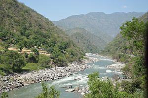 Mandi district - The Beas, Mandi.