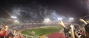 Estadio Monumental Antonio Vespucio Liberti - Estadio Monumental panorama of the Recopa Sudamericana, its award ceremony at the 2016 final between Club Atlético River Plate and Independiente Santa Fe in which River won by 2-1.