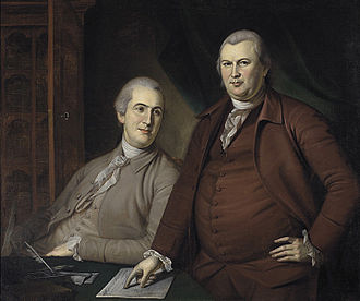Newburgh Conspiracy - Gouverneur Morris (left) and Robert Morris (right), portrait by Charles Willson Peale, 1783