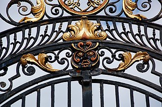 Robert Bakewell (ironsmith) - The Silk Mill gates in Derby (now Derby Industrial Museum)
