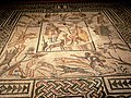 Roman mosaic floor LosAngeles County Museum California.jpg