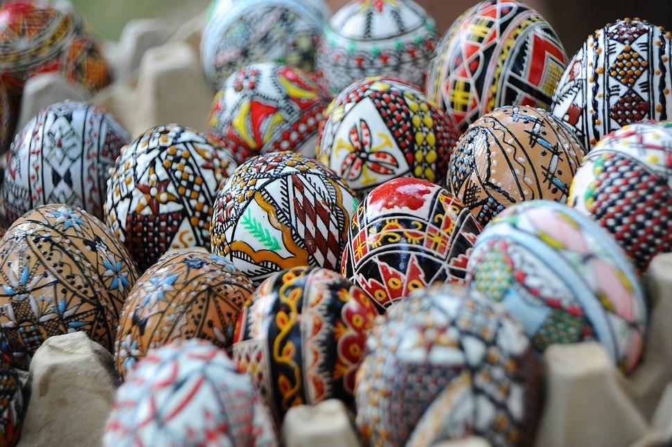 Romanian easter eggs. Bucharest, Roamnia, Southeastern Europe
