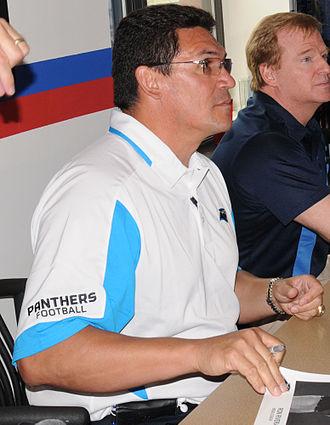 Carolina Panthers - Head coach Ron Rivera