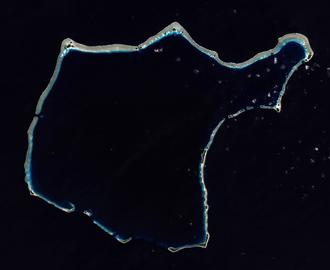 Rongelap Atoll - NASA Landsat 8 image of Rongelap Atoll