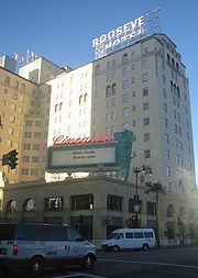 Roosevelt Hotel from Hollywood Blvd