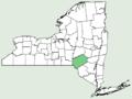 Rosa × rehderiana NY-dist-map.png