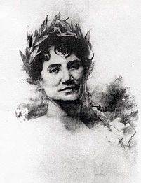 Rosalía Castro de Murguía ca 1888 Josep María Fenollera Ibáñez (Valencia 1851-S. de Compostela 1918)
