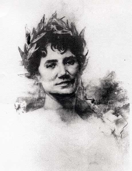 Retrato por José María Fenollera, sobre 1888.