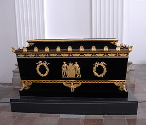 Marie of Hesse-Kassel - Her sarcophagus in Roskilde Cathedral