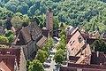 Rothenburg ob der Tauber, Franziskanerkirche, Burgtor, vom Rathausturm 20170526 002.jpg