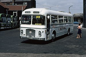 National Bus Company (UK) - Eastern Coach Works bodied Bristol in Weymouth in 1978 in National Express livery
