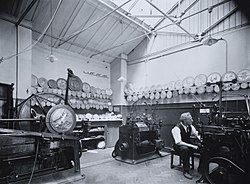 Engraving room at the Royal Mint in 1934