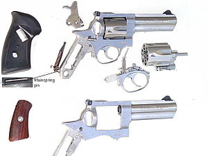 Ruger GP100 - Major sub units of GP100 (KGP-141)