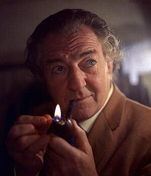 """Maigret (1960 TV series) - Rupert Davies as Insp. Jules Maigret in """"Murder on Monday"""""""