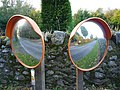 Rural East Lothian , Roadside Mirrors In Stereo at Markle Mains - geograph.org.uk - 2130696.jpg