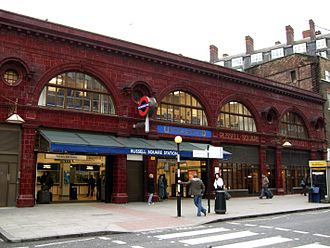 Underground Electric Railways Company of London - Russell Square station, an example of the Leslie Green design used for the UERL's stations
