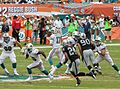 Ryan Tannehill drops back - Miami Dolphins vs Oakland Raiders 2012.jpg