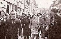 210px Ryesgade%2C Aarhus%2C May 1945. The resistance rounds up collaborators%2C Cheering crowds celebrate. Wikipedia info guide tourism