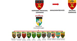 Northern Transvaal Command - SADF Commando Structure Northern Transvaal Command