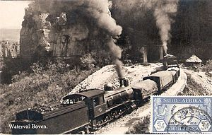 South African Class 8B 4-8-0 - CSAR Class 8-L2, SAR Class 8B, at the Waterval Boven tunnel, c. 1912